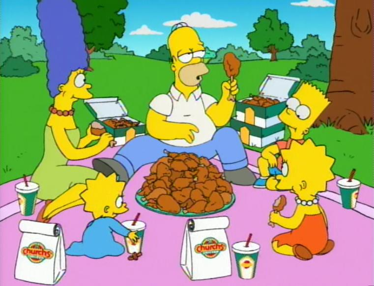Family Picnic Cartoon The simpsons news agreeing